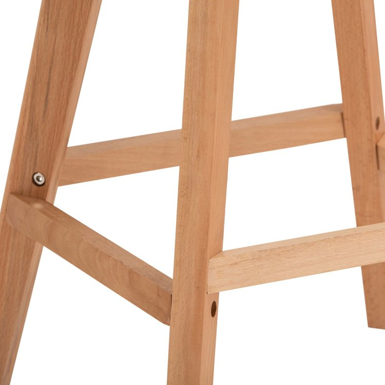 Barska stolica Petrol s detaljem drvenih nogica