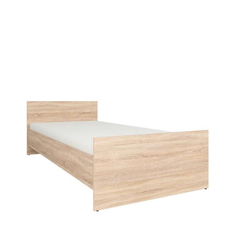 krevet Nepo plus 90 slikan s lijeve strane na bijeloj pozadini