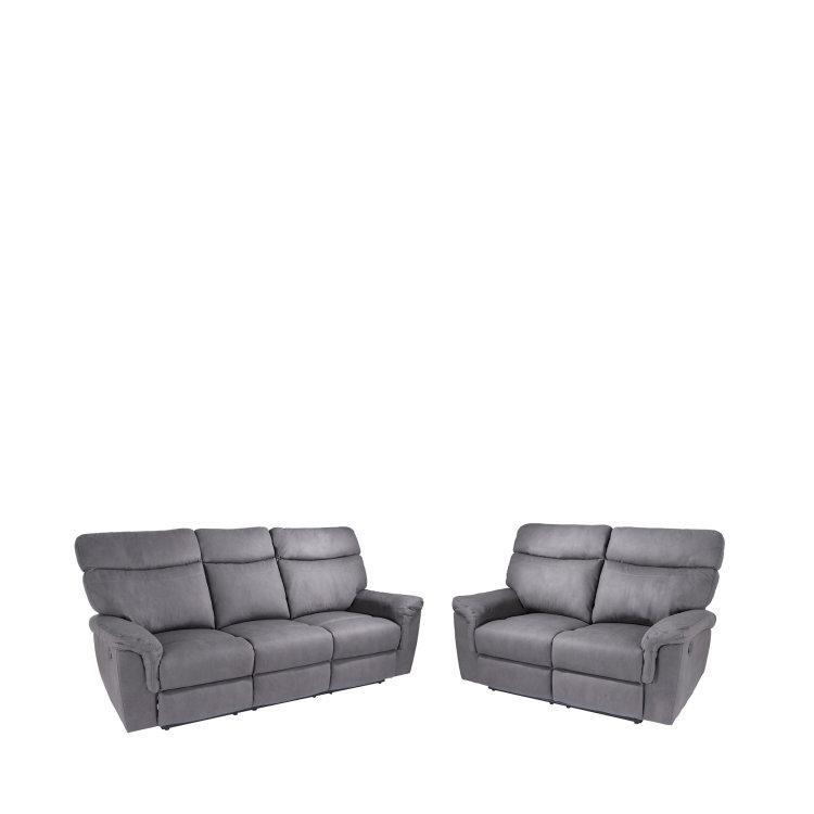 udobna siva relax garnitura slika dvosjeda i trosjeda