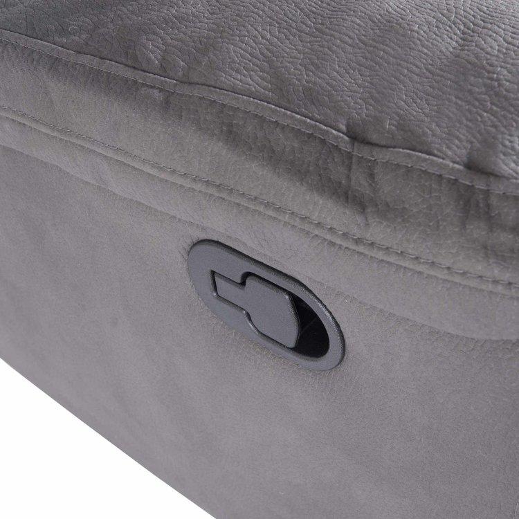 udobna siva relax garnitura s detaljem ručkice za relaks funkciju