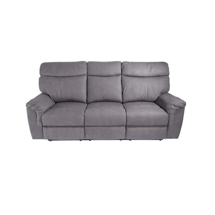 udobna siva relax garnitura trosjed slikan s prednje strane