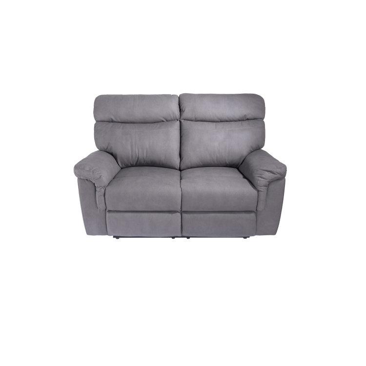 udobna siva relax garnitura dvosjed slikan s prednje strane