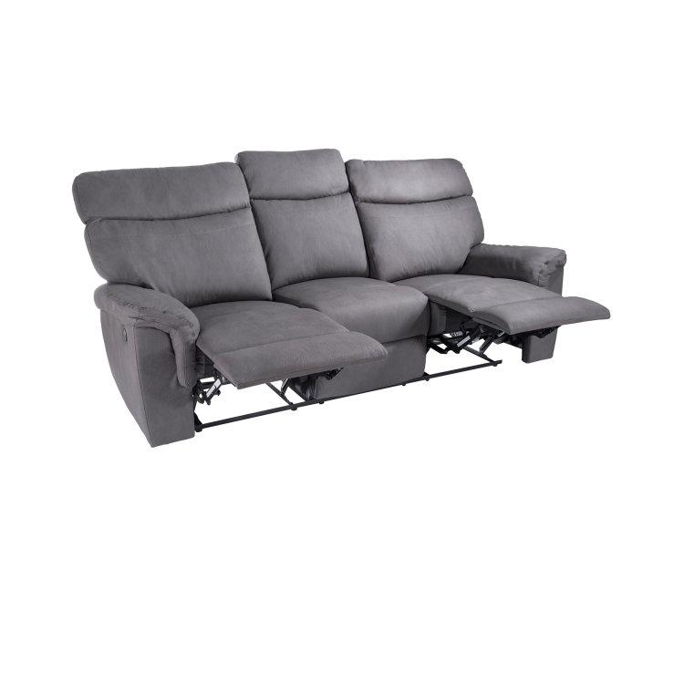 udobna siva relax garnitura trosjed s dignutim naslonom za noge