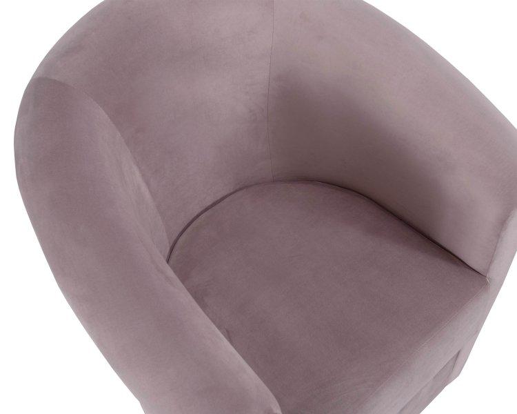 klasična roza fotelja sa sjedištem u krupnom planu