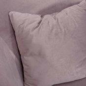 klasična roza fotelja detalj sjedišta s jastukom