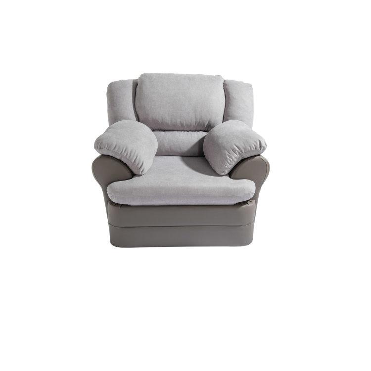kvalitetna siva fotelja King slikana s prednje strane