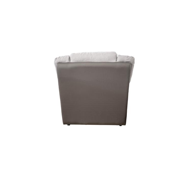 kvalitetna siva fotelja King slikana sa stražnje strane
