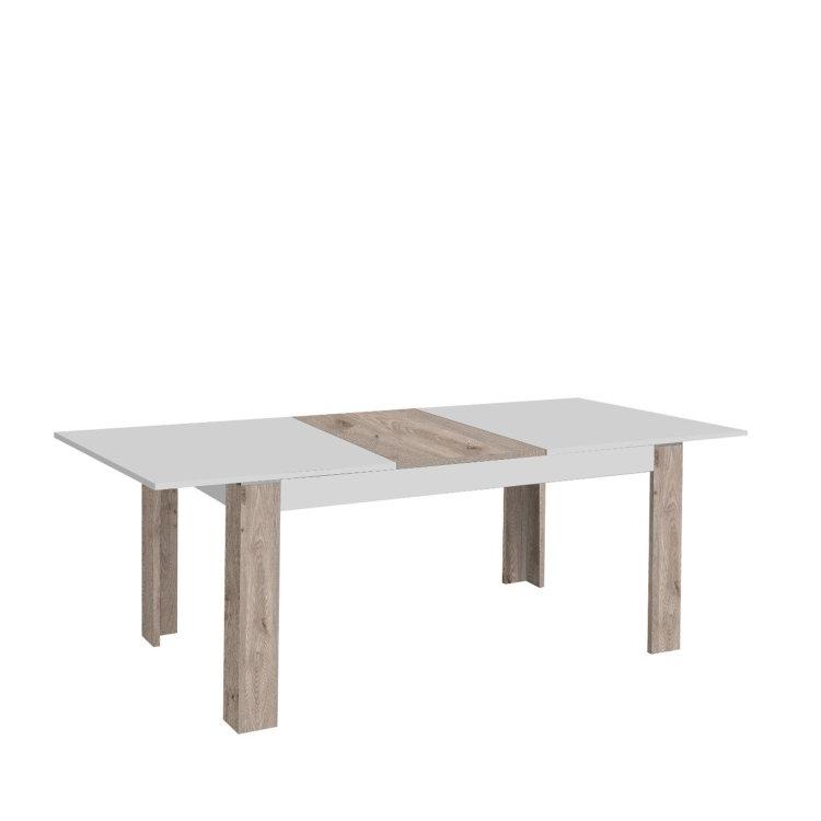 stol canne u kombinaciji boja bijela i drvo