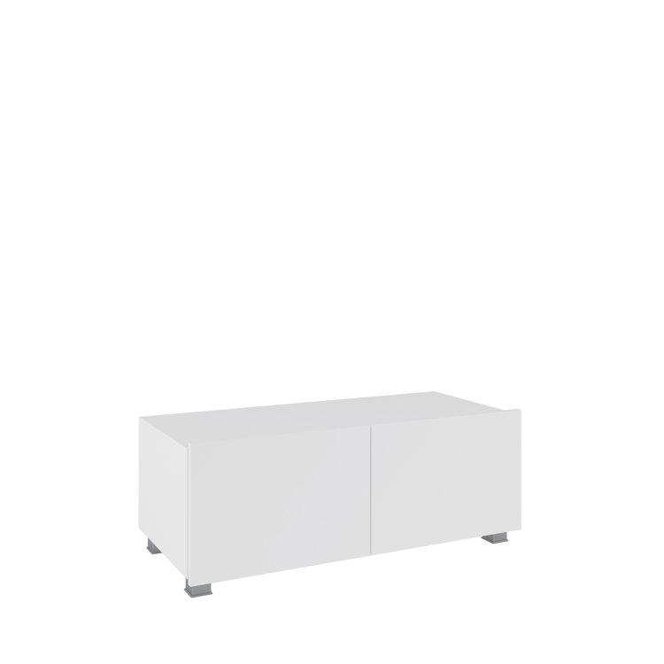 bijeli stolić rtv calabrini slikan s lijeve strane