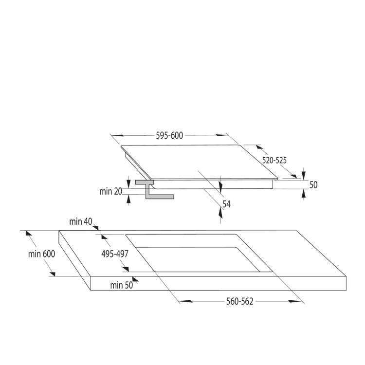 indukcijska ploča dimenzije