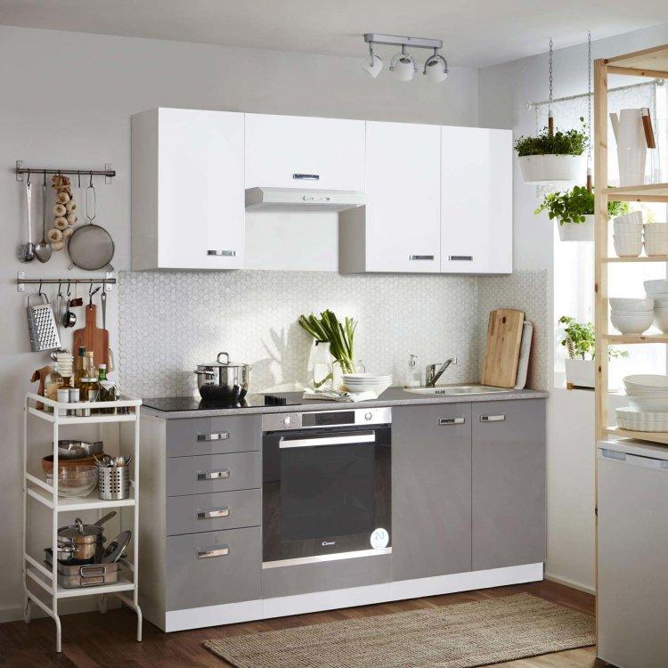 modularna kuhinja Grey namještena u ambijentu