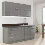modularna kuhinja Grey minimalna u prostoru