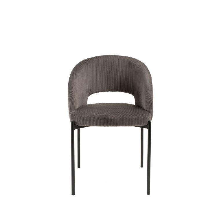 siva stolica s rebrastom tkaninom