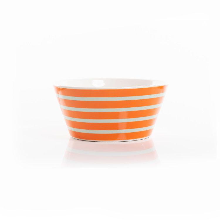 zdjelica Prugica narančasta od porculana slikana na bijeloj pozadini