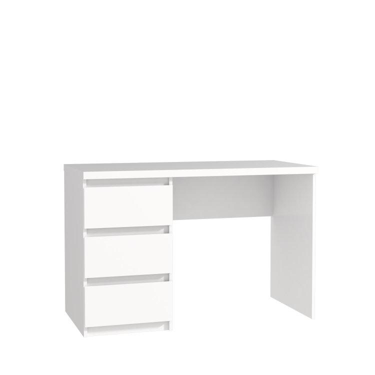 bijeli radni stol net slikan s prednje strane