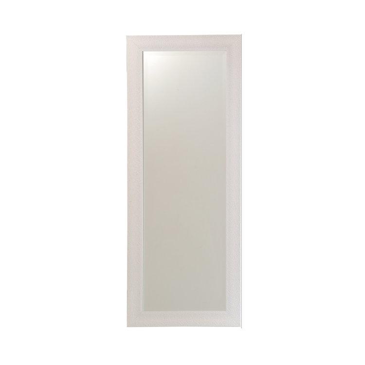 ogledalo Simple bijelo slikano s prednje strane