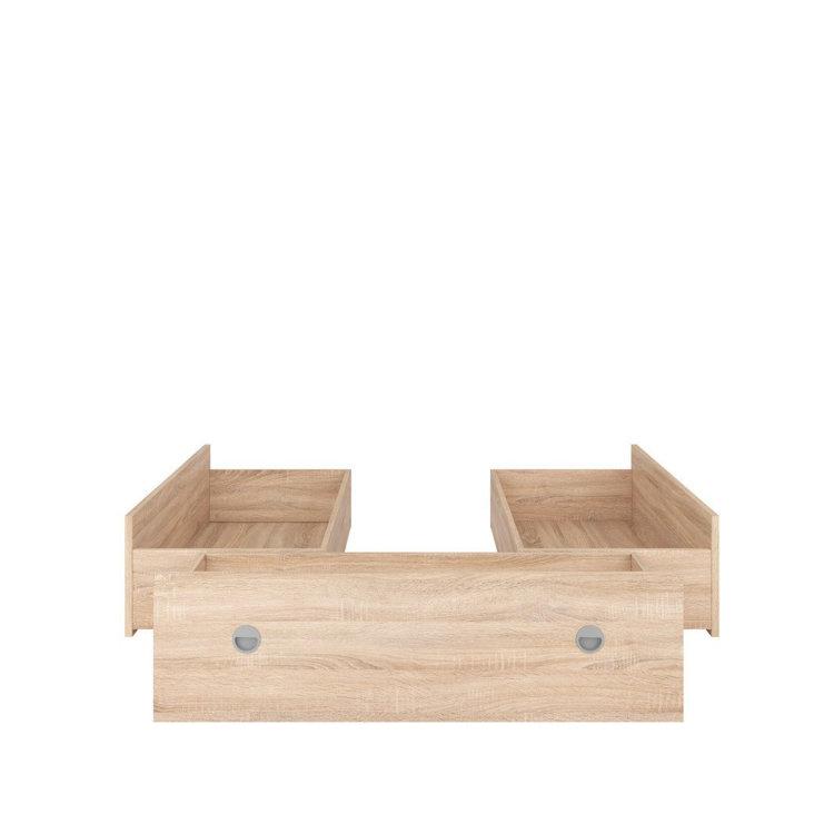 ladice za krevet Nepo plus 3 od prirodnog drva