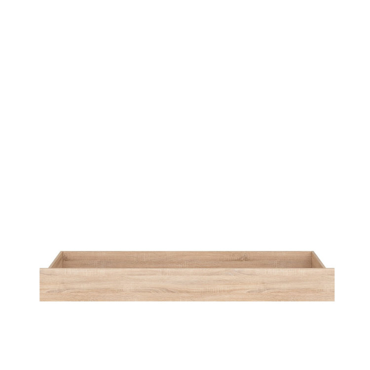 ladica za krevet Nepo plus u boji prirodnog drva slikana s prednje strane