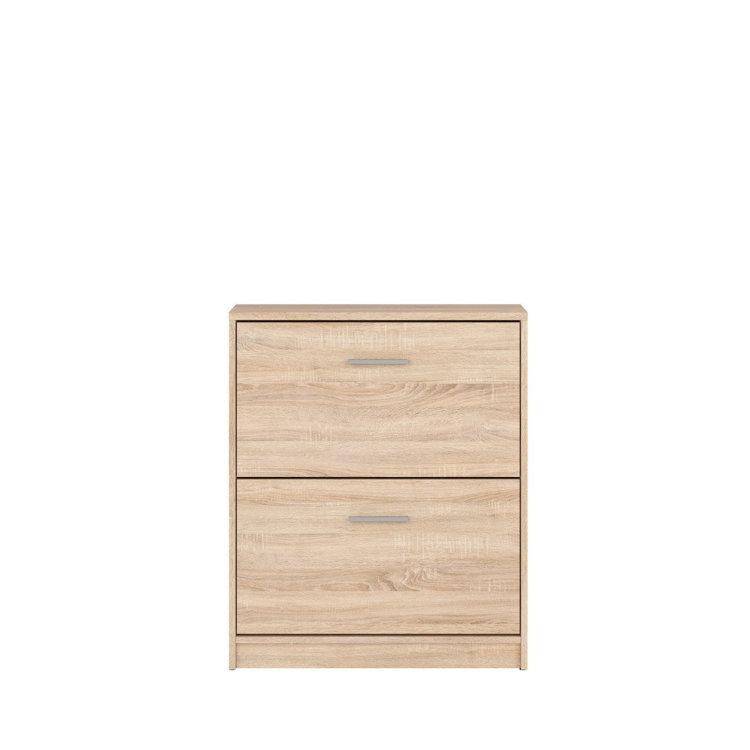 drveni cipelar s 2 vrata slikan s prednje strane
