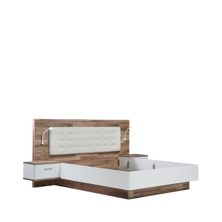 krevet Modern Way slikan s lijeve strane na bijeloj pozadini