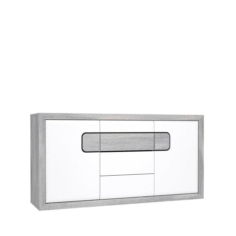 moderna komoda Tomasso 2V3L suvremenog dizajna slikana s lijeve strane na bijeloj pozadini