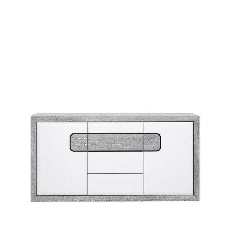 moderna komoda Tomasso 2V3L suvremenog dizajna slikana s prednje strane na bijeloj pozadini