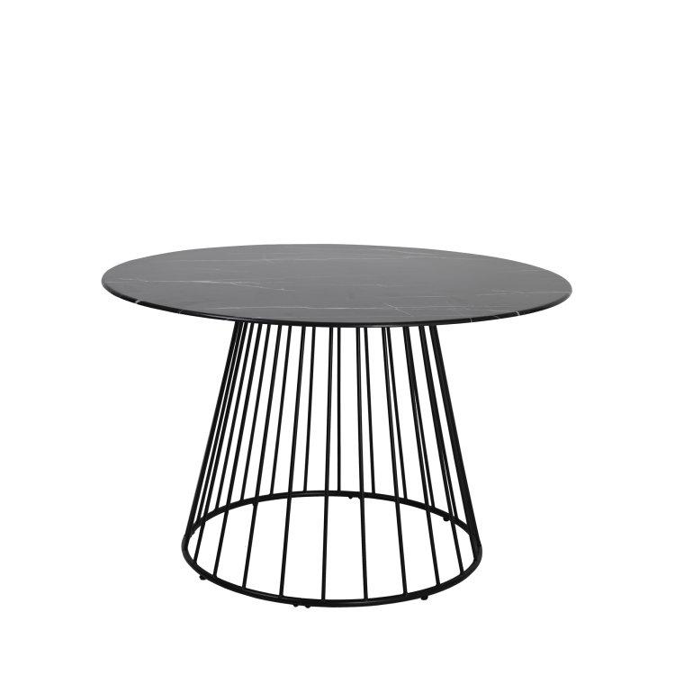 okrugli stol massimo u boji crnog mramora