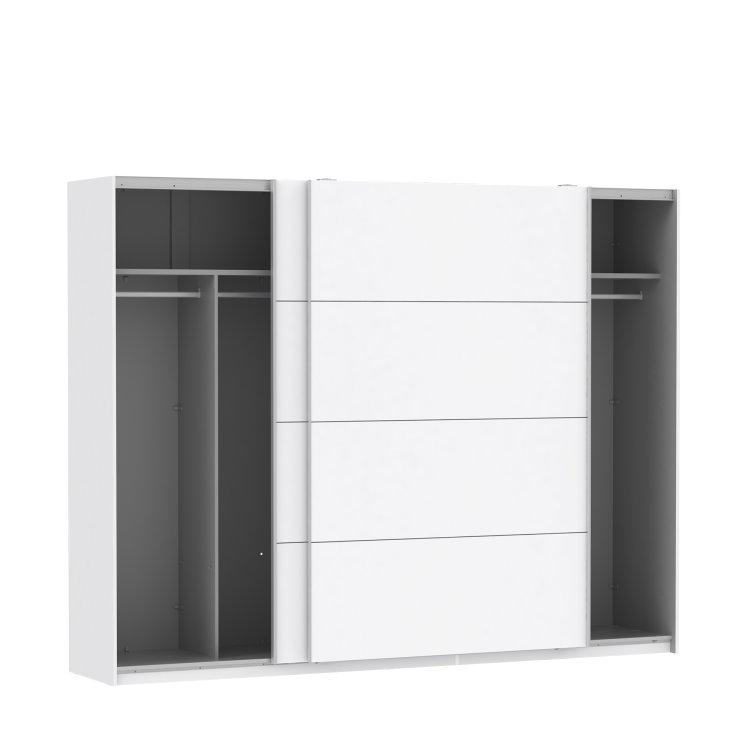 moderan klizni ormar Starlet plus 270 elegantnog dizajna s otvorenim vratima slikan na bijeloj pozadini