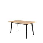 stol oslo u boji svijetlog drveta s crnim nogama