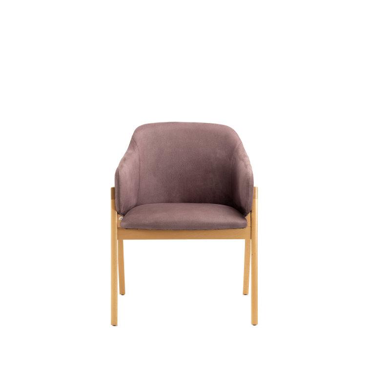 ljubičasta stolica adele slikana s prednje strane
