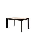 stol gabriel u boji sivog mramora s crnim nogama