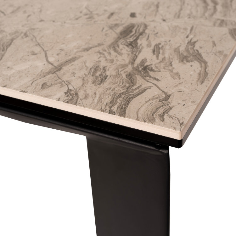 stol gabriel u boji sivog mramora s crnim nogama uvećani prikaz