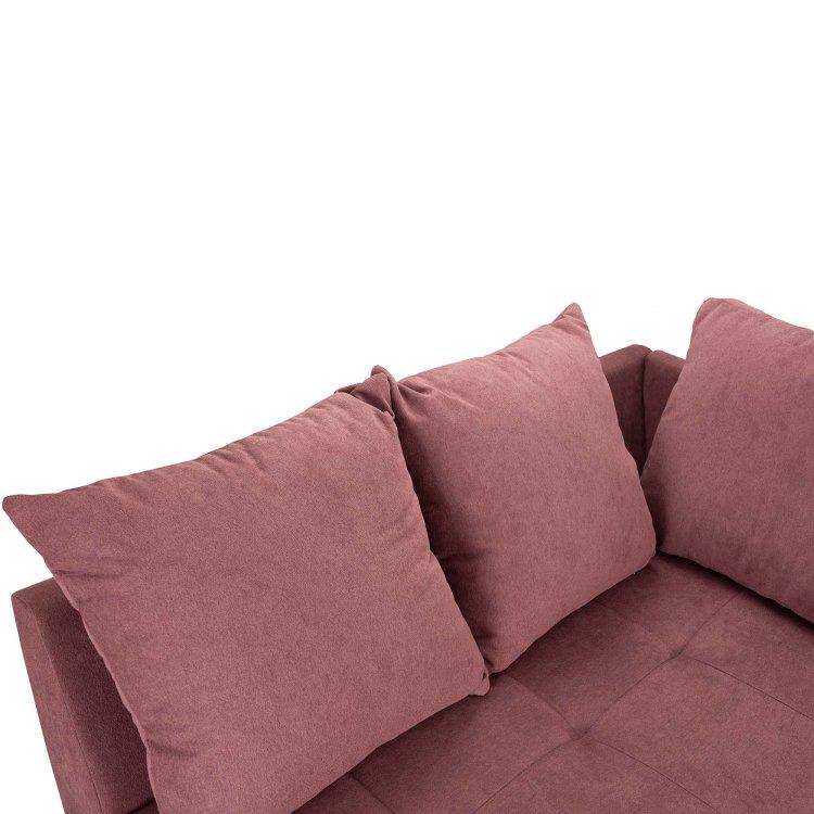 kutna garnitura Gea roza s detaljem jastuka