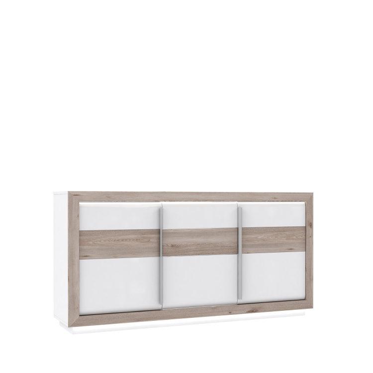 bijela komoda Canne s uzorkom drva slikana na bijeloj pozadini