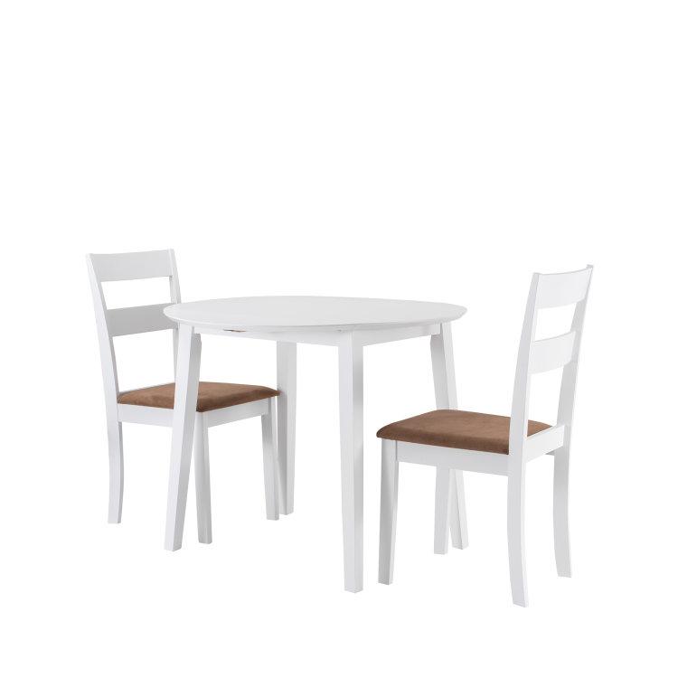 set stol i stolice bijele slikano s lijeve strane