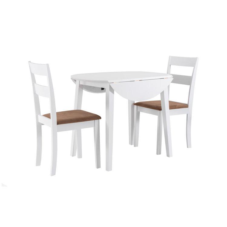 set stol i stolice bijele slikano s desne strane