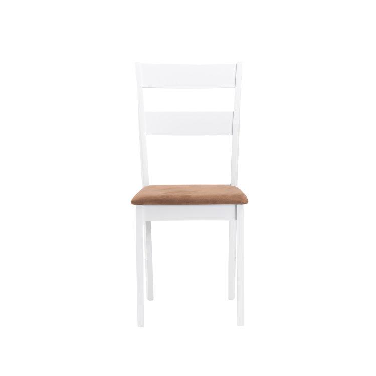 set stol i stolice bijele stolica slikana s prednje strane