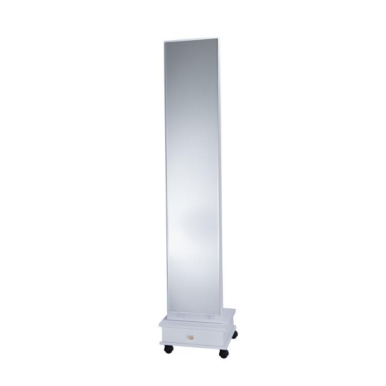 ogledalo stajaće bijelo slikano s prednje strane