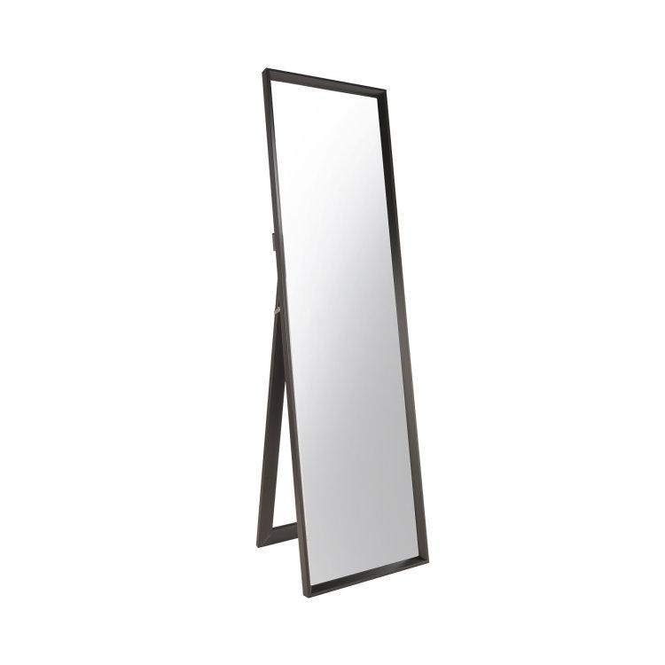 ogledalo podno crno slikano s lijeve strane