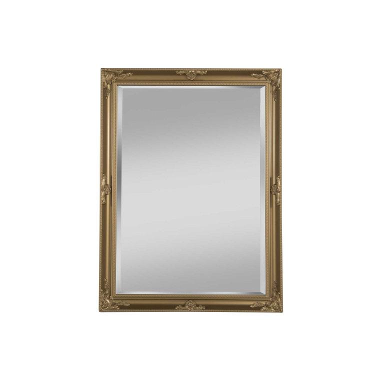 ogledalo zlatno slikano s prednje strane