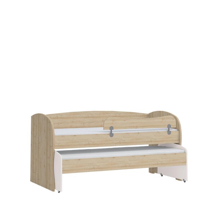 krevet Kiki dupli + ogradica kreveta slikan na bijeloj pozadini