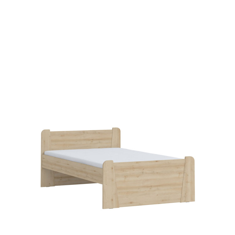krevet Kiki 120x200 s lijeve strane slikan na bijeloj pozadini