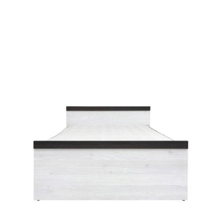 krevet Porto jednostavnog dizajna slikan s prednje strane na bijeloj pozadini