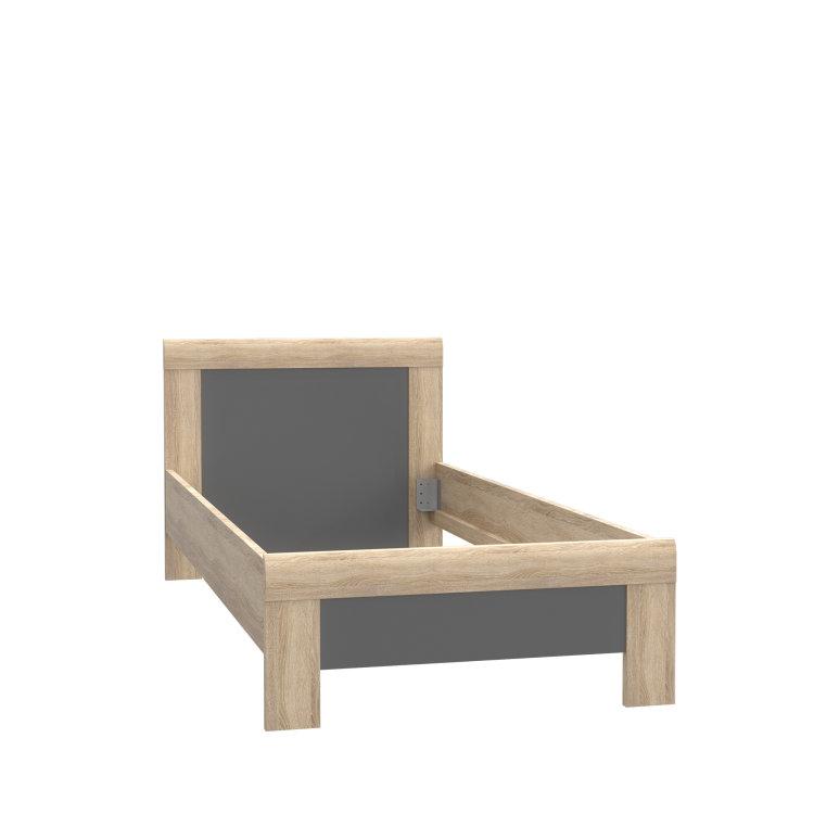 jednostavan krevet Yoop na bijeloj pozadini