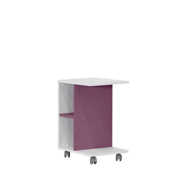 bijelo rozi Bočni stolić Kinder slikan s prednje desne stane